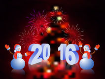 Nowy rok 2016 Fotografia Royalty Free