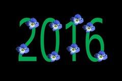 Nowy rok 2016 Obraz Royalty Free