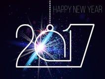 Nowy rok 2017 Fotografia Stock
