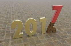 Nowy rok 2017 ilustracja wektor