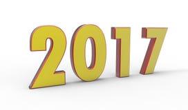 Nowy rok 2017 royalty ilustracja