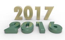 Nowy rok 2017 ilustracji