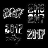 2017 - Nowy rok Fotografia Royalty Free