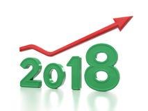Nowy rok 2018 ilustracja wektor