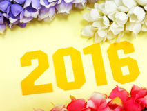 2016 nowy rok bacground dekoracja Zdjęcie Royalty Free