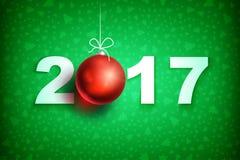 Nowy rok 2017 ball3-01 Zdjęcia Stock