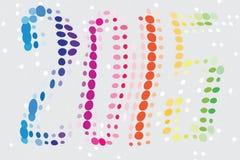 Nowy Rok 2015 Barwiący Zdjęcie Royalty Free