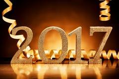 Nowy Rok bawją się tło dla 2017 Fotografia Stock