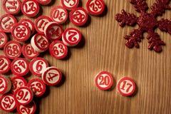 2017 nowy rok bingo liczby Zdjęcia Stock