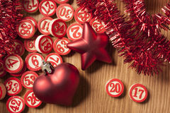 2017 nowy rok bingo liczby Obrazy Stock