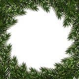 nowy rok, Boże Narodzenia Pocztówka z wzorem choinki Miejsce dla reklamować, zawiadomienia Zieleni gałąź ilustracji