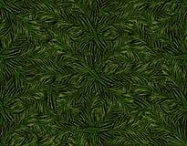 Nowy Rok boże narodzenia Zielona gałąź choinka bezszwowy wzoru ilustracja Fotografia Royalty Free