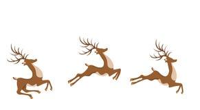 Nowy Rok, Bożenarodzeniowy rogacz w skoku ilustracja ilustracja wektor