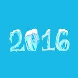 2016 nowy rok bożych narodzeń śniegu lód Marznąca liczba royalty ilustracja