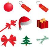 nowy rok, Boże Narodzenia clipart wektor Royalty Ilustracja