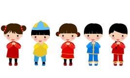 Nowy Rok _children, chińczyk royalty ilustracja