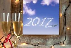 2017 nowy rok chmura Fotografia Stock