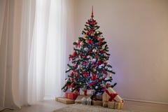 Nowy rok choinki wystroju prezenty Bożenarodzeniowi Obraz Royalty Free