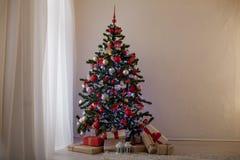 Nowy rok choinki wystroju prezenty Bożenarodzeniowi Obrazy Royalty Free