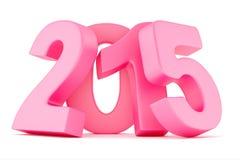 2015 nowy rok cyfry Zdjęcie Royalty Free