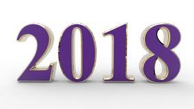 Nowy rok 2018 3d royalty ilustracja