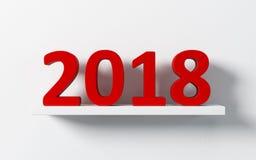 nowy rok 2018, 3d rendering ilustracja wektor
