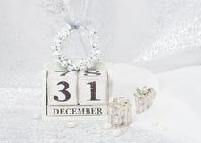 Nowy Rok data Na kalendarzu Grudzień 31 Boże Narodzenia Fotografia Royalty Free