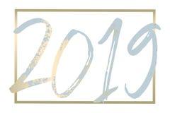 2019 nowy rok dekoraci projekt royalty ilustracja