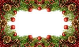 Nowy rok dekoracj rama Obrazy Stock