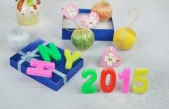 Nowy rok 2015 dekoracja Fotografia Royalty Free