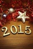 Nowy rok 2015 dekoracja Obrazy Royalty Free