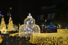Nowy rok dekoracja, Bangkok, Tajlandia Obrazy Royalty Free