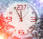 Nowy rok dekoracja z gałąź świerczyna Zdjęcie Stock