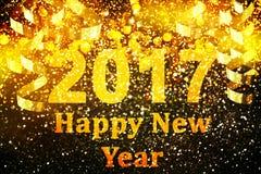 Nowy rok dekoracja, zbliżenie na złotych tło Zdjęcia Royalty Free