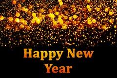 Nowy rok dekoracja, zbliżenie na złotych tło Obrazy Stock