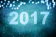 Nowy rok dekoracja, zbliżenie na złotych tło Obraz Stock
