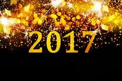 Nowy rok dekoracja, zbliżenie na złotych tło Obrazy Royalty Free