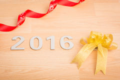 Nowy rok dekoracja, zbliżenie na 2016 Fotografia Royalty Free