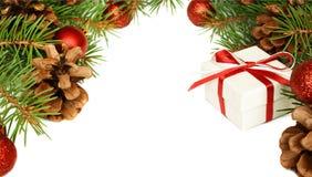 Nowy rok dekoracje dla kartki bożonarodzeniowa Obraz Royalty Free