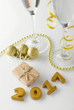 Nowy Rok dekoracje od 2017 Zdjęcia Royalty Free