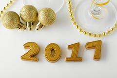 Nowy Rok dekoracje od 2017 Obraz Royalty Free