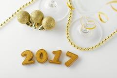 Nowy Rok dekoracje od 2017 Obrazy Royalty Free