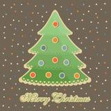 Nowy rok drzewne kolorowe piłki Zdjęcie Royalty Free