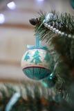 Nowy Rok drzewo dekoracj Zdjęcie Royalty Free