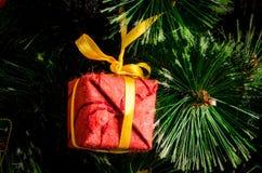 Nowy Rok drzewo zabawki fotografia royalty free