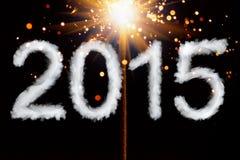Nowy Rok 2015, dym stylowe cyfry Zdjęcia Royalty Free