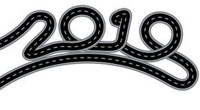 2019 nowy rok E pojedynczy białe tło ilustracja royalty ilustracja
