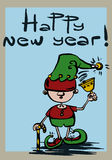 Nowy rok elfów Zdjęcie Stock