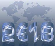 Nowy 2018 rok euro tło, wektor Obraz Stock