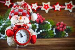 Nowy Rok i Chrismas bałwan Obrazy Stock